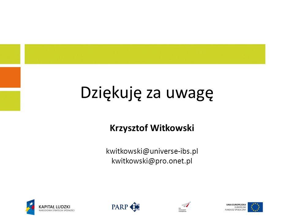 Krzysztof Witkowski kwitkowski@universe-ibs.pl kwitkowski@pro.onet.pl