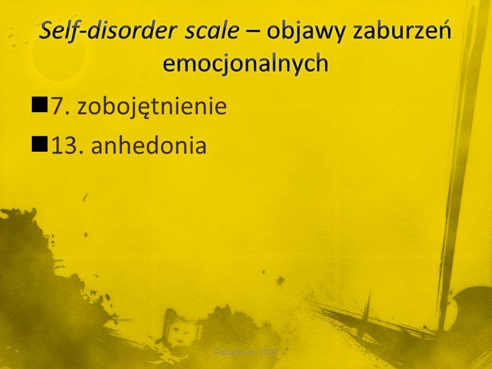 Self-disorder scale – objawy zaburzeń emocjonalnych