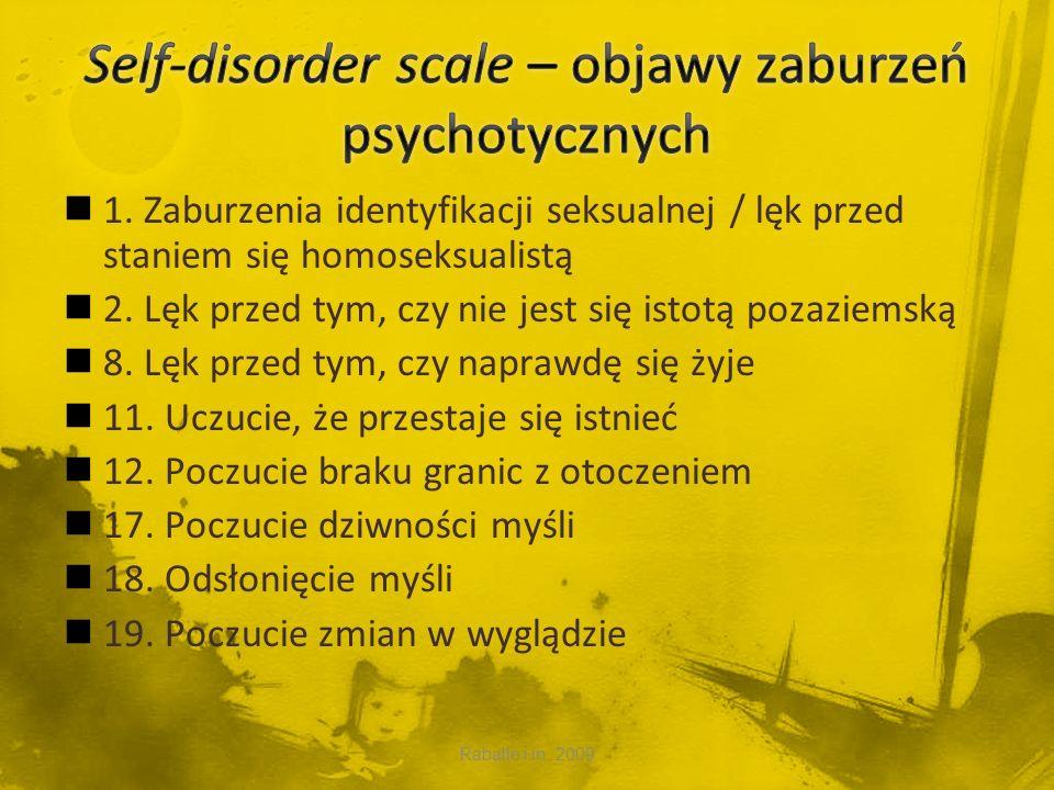 Self-disorder scale – objawy zaburzeń psychotycznych