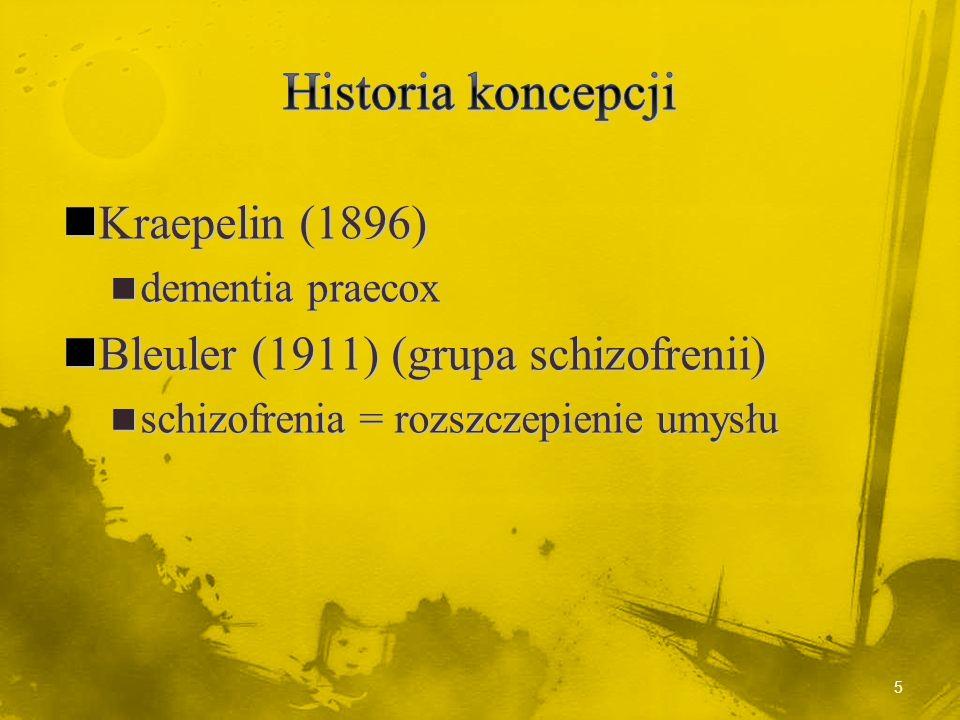 Historia koncepcji Kraepelin (1896)