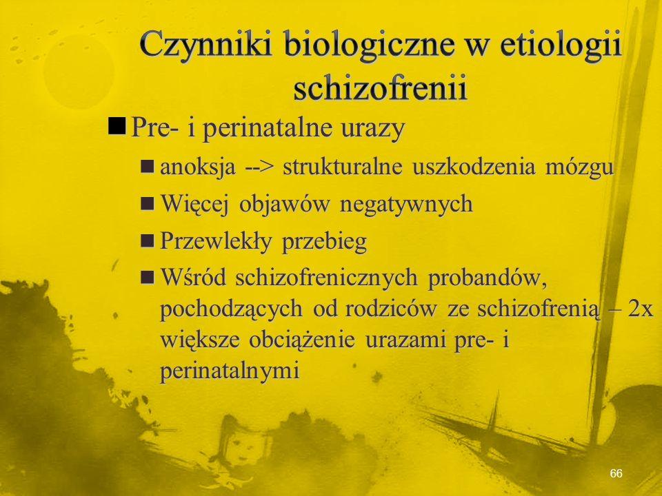 Czynniki biologiczne w etiologii schizofrenii