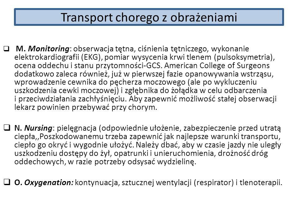 Transport chorego z obrażeniami