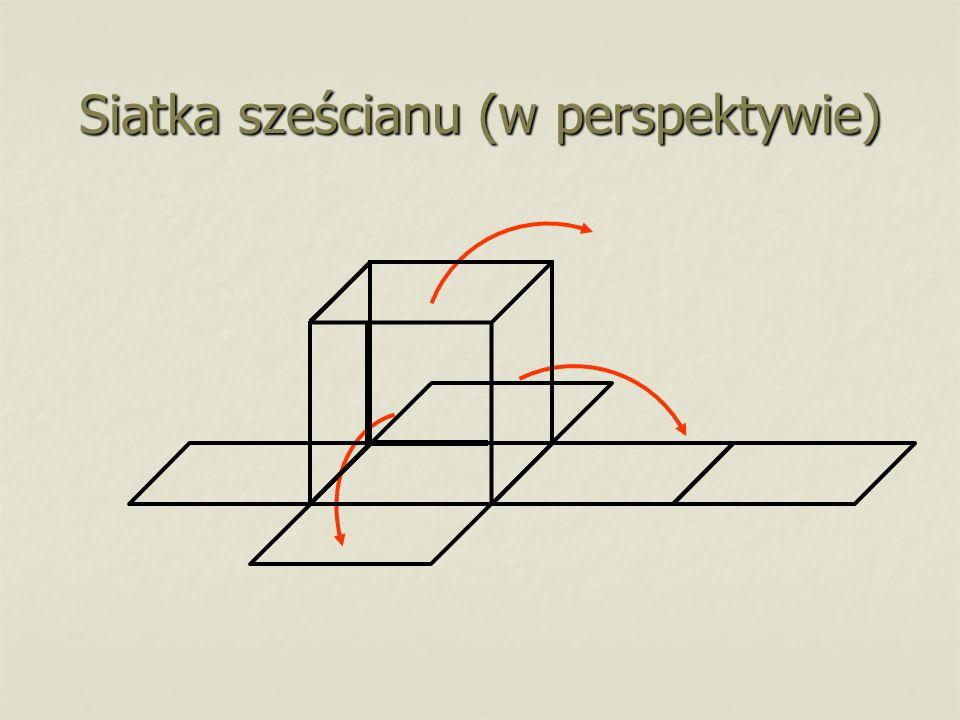 Siatka sześcianu (w perspektywie)