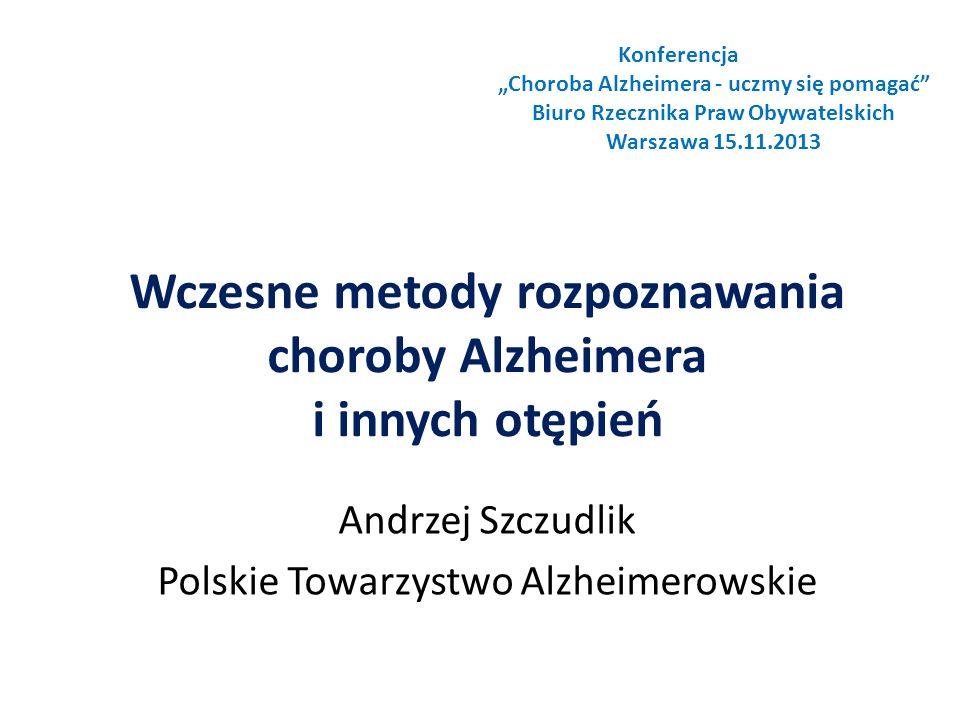 Wczesne metody rozpoznawania choroby Alzheimera i innych otępień