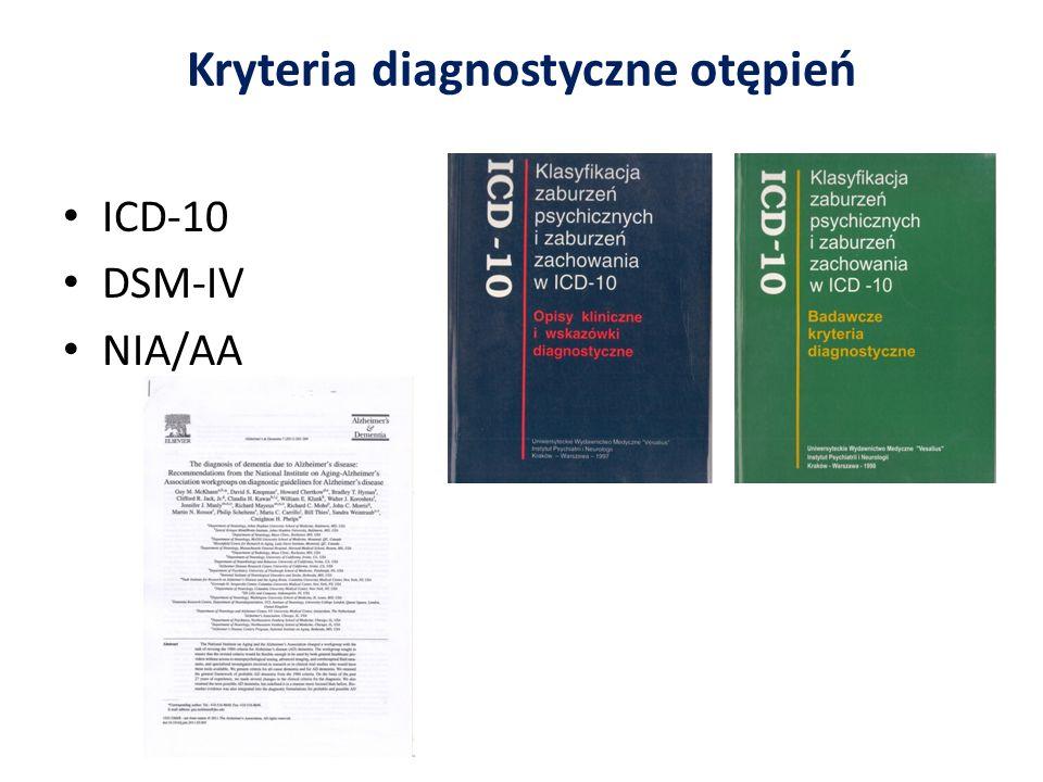 Kryteria diagnostyczne otępień