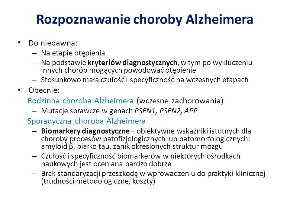 Rozpoznawanie choroby Alzheimera