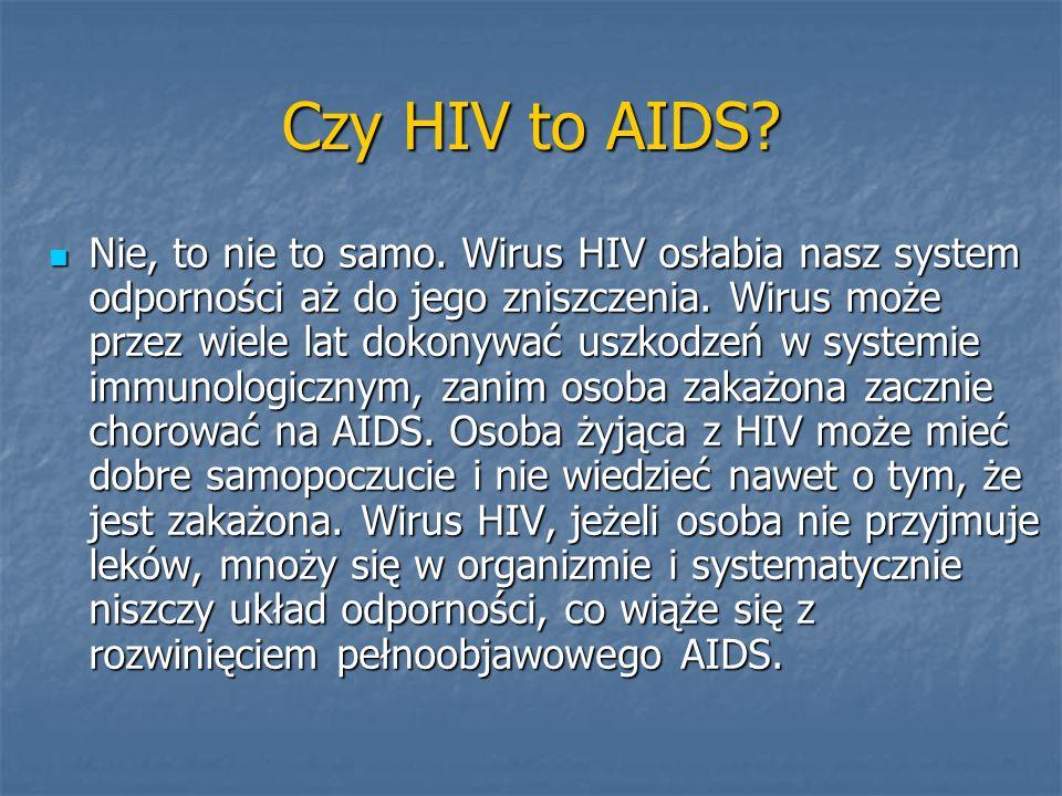 Czy HIV to AIDS