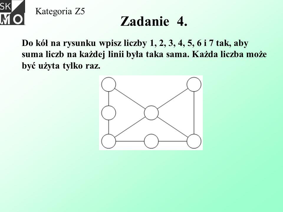 Kategoria Z5 Zadanie 4.