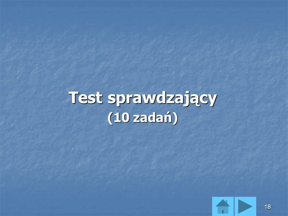 Test sprawdzający (10 zadań)