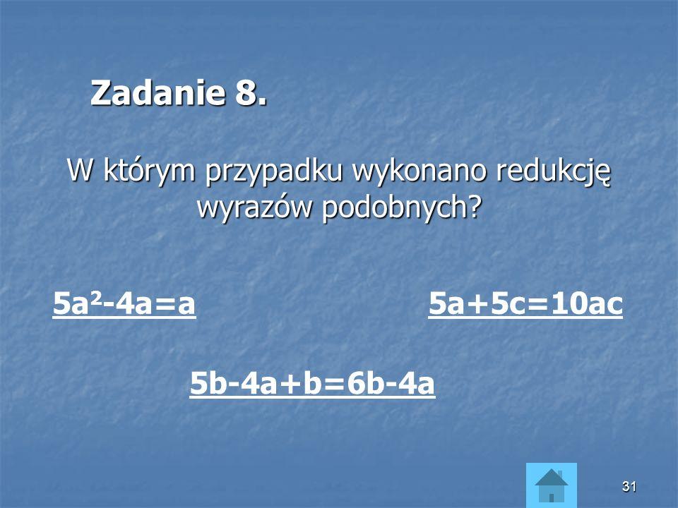 W którym przypadku wykonano redukcję wyrazów podobnych