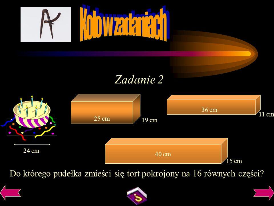 Zadanie 2 Koło w zadaniach