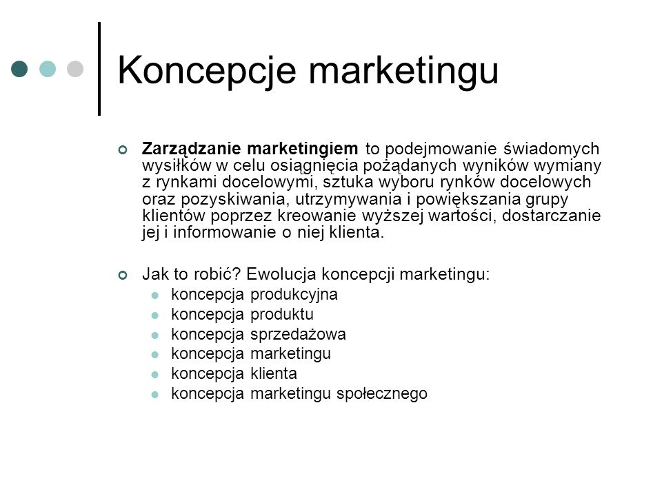 Koncepcje marketingu