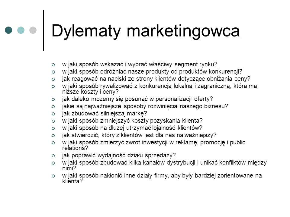 Dylematy marketingowca