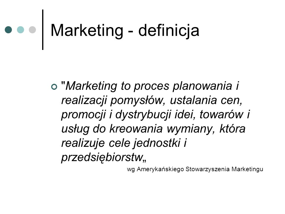 Marketing - definicja