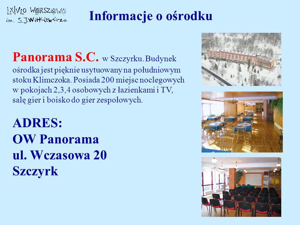 Informacje o ośrodku
