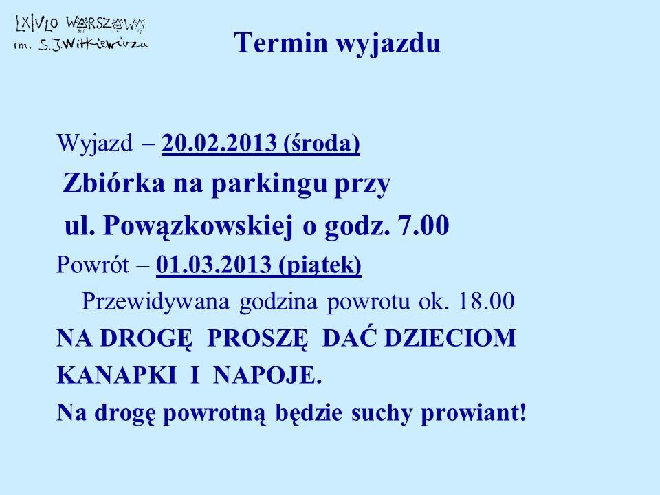 ul. Powązkowskiej o godz. 7.00