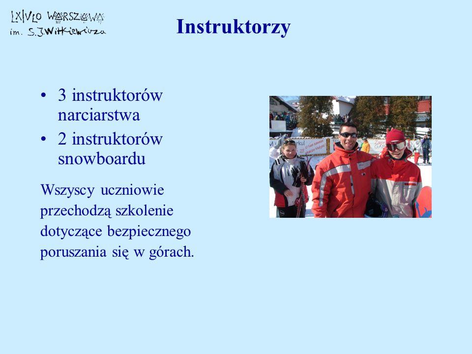 Instruktorzy 3 instruktorów narciarstwa 2 instruktorów snowboardu