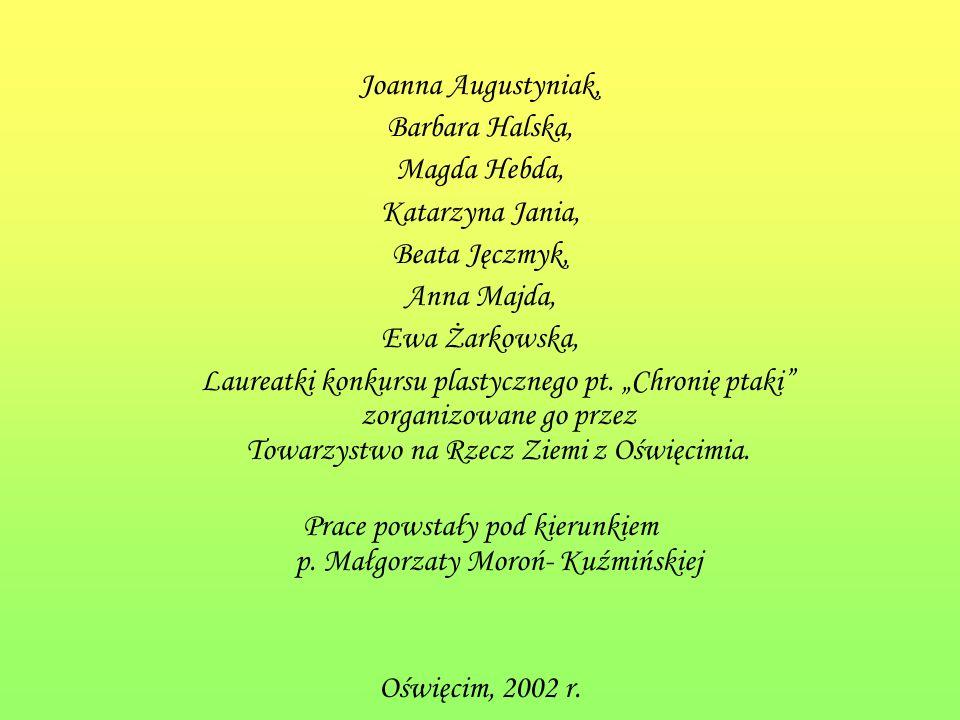 Prace powstały pod kierunkiem p. Małgorzaty Moroń- Kuźmińskiej