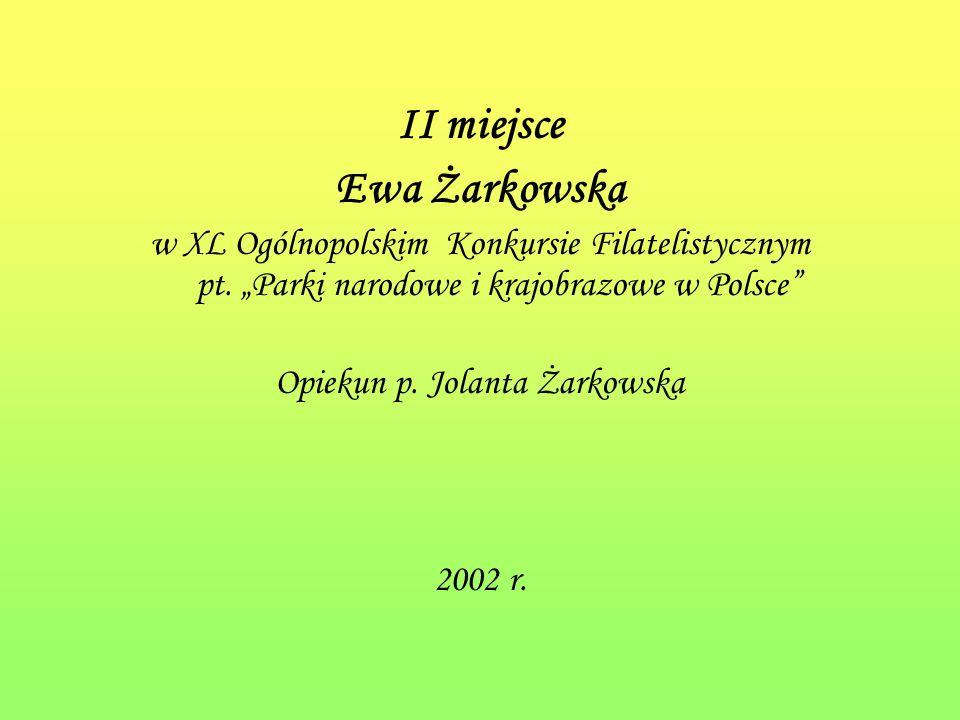 Opiekun p. Jolanta Żarkowska