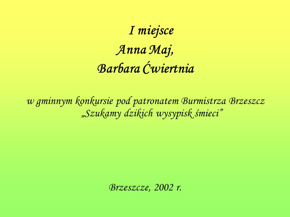 I miejsce Anna Maj, Barbara Ćwiertnia
