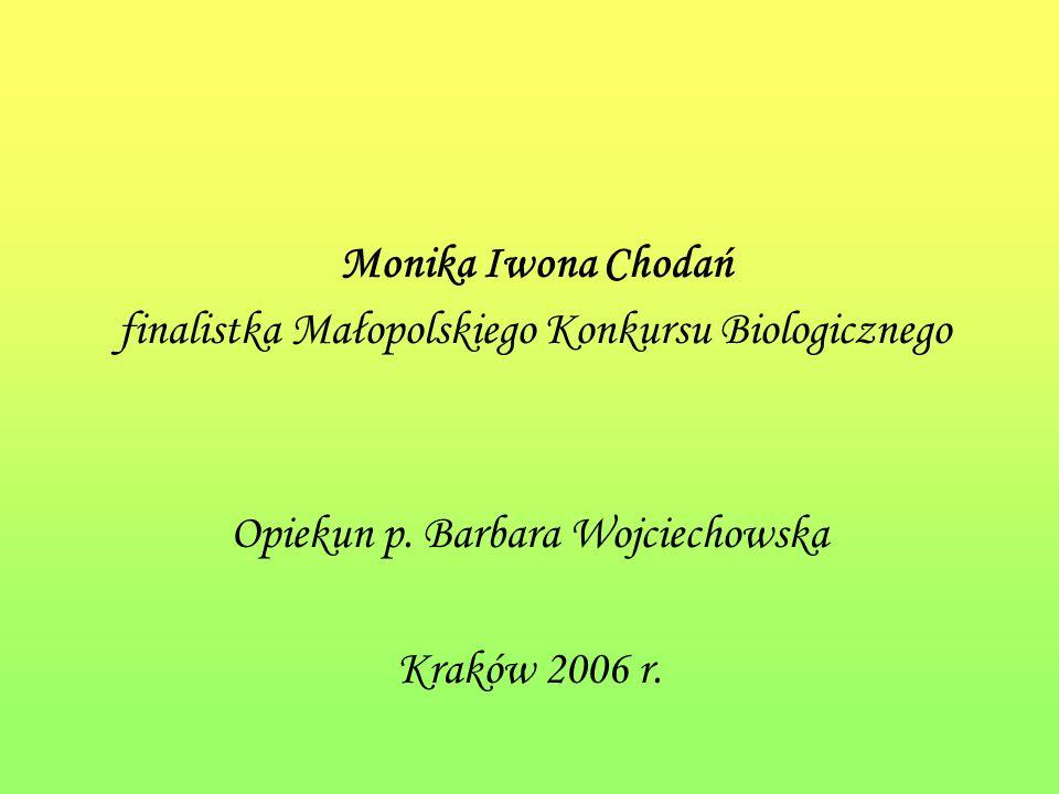 finalistka Małopolskiego Konkursu Biologicznego