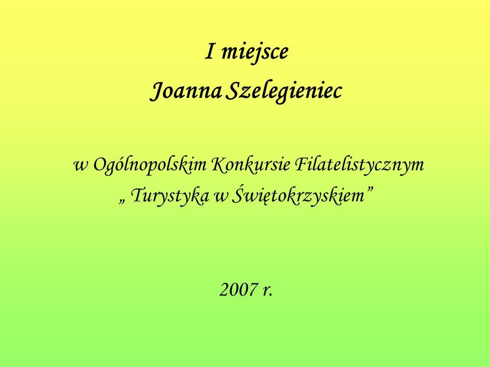 I miejsce Joanna Szelegieniec