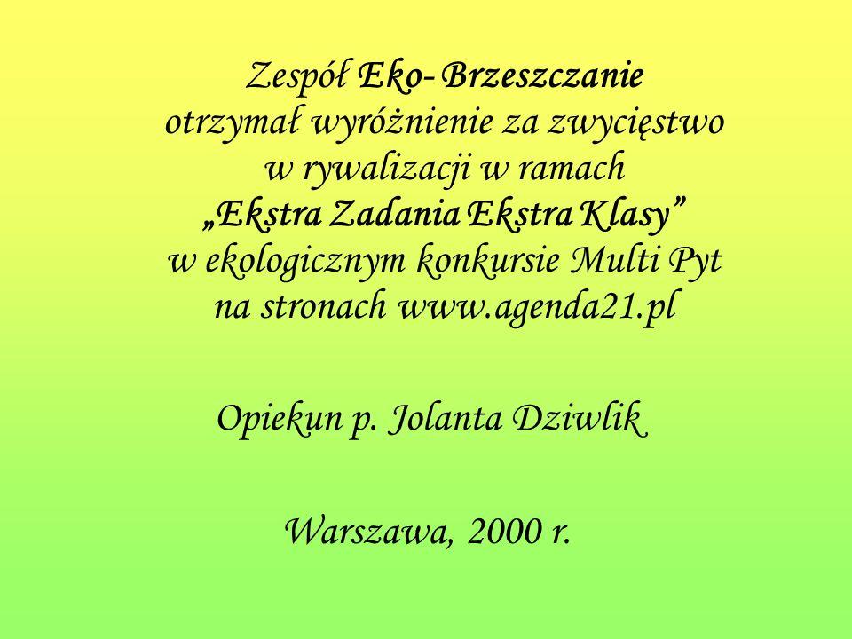 Opiekun p. Jolanta Dziwlik
