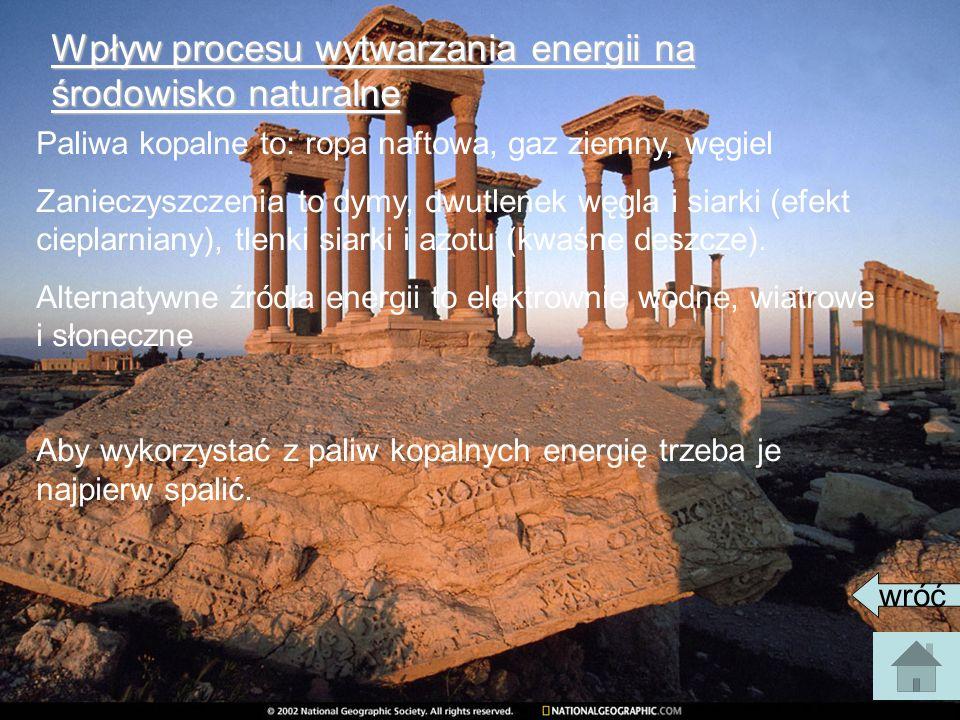 Wpływ procesu wytwarzania energii na środowisko naturalne