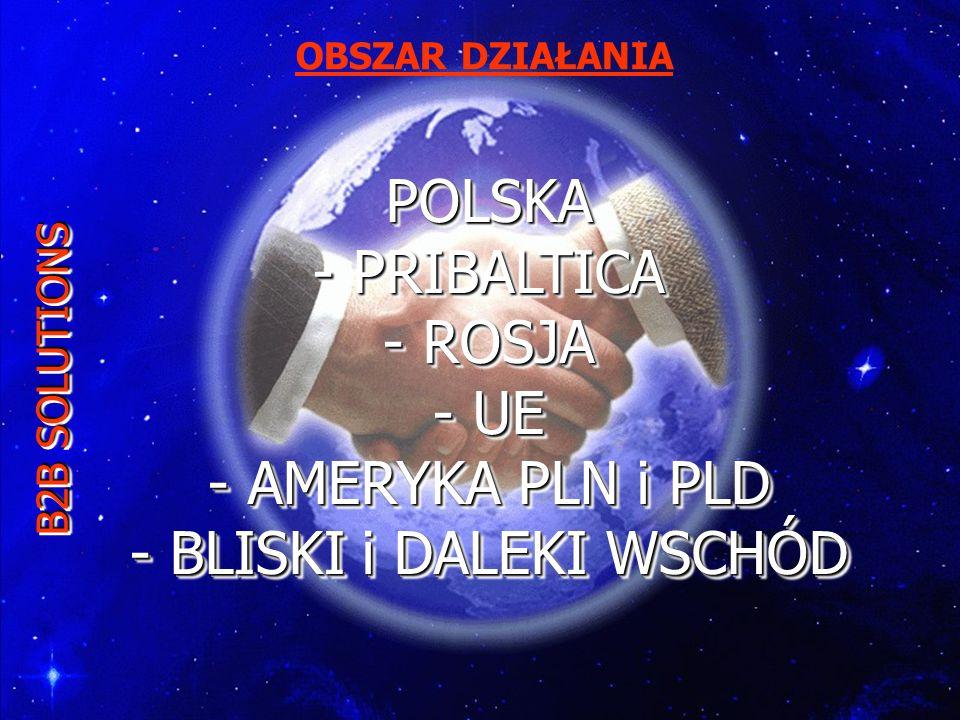 OBSZAR DZIAŁANIA POLSKA - PRIBALTICA - ROSJA - UE - AMERYKA PLN i PLD - BLISKI i DALEKI WSCHÓD.