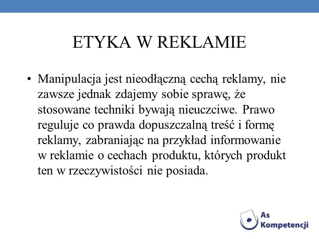 ETYKA W REKLAMIE