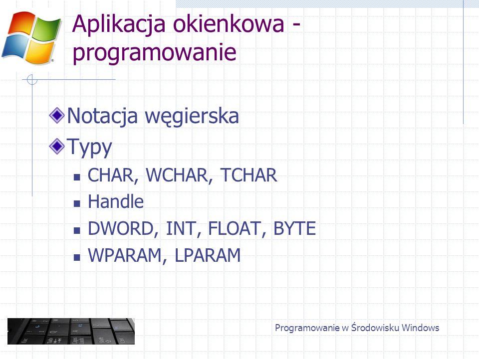 Aplikacja okienkowa - programowanie