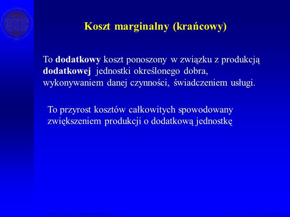 Koszt marginalny (krańcowy)