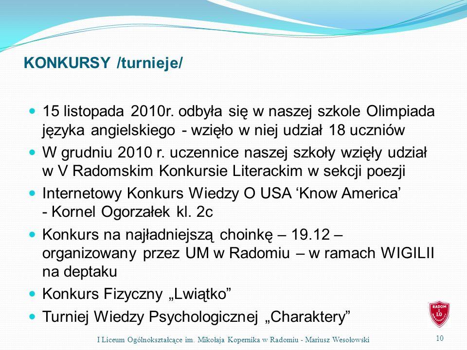 """Konkurs Fizyczny """"Lwiątko Turniej Wiedzy Psychologicznej """"Charaktery"""