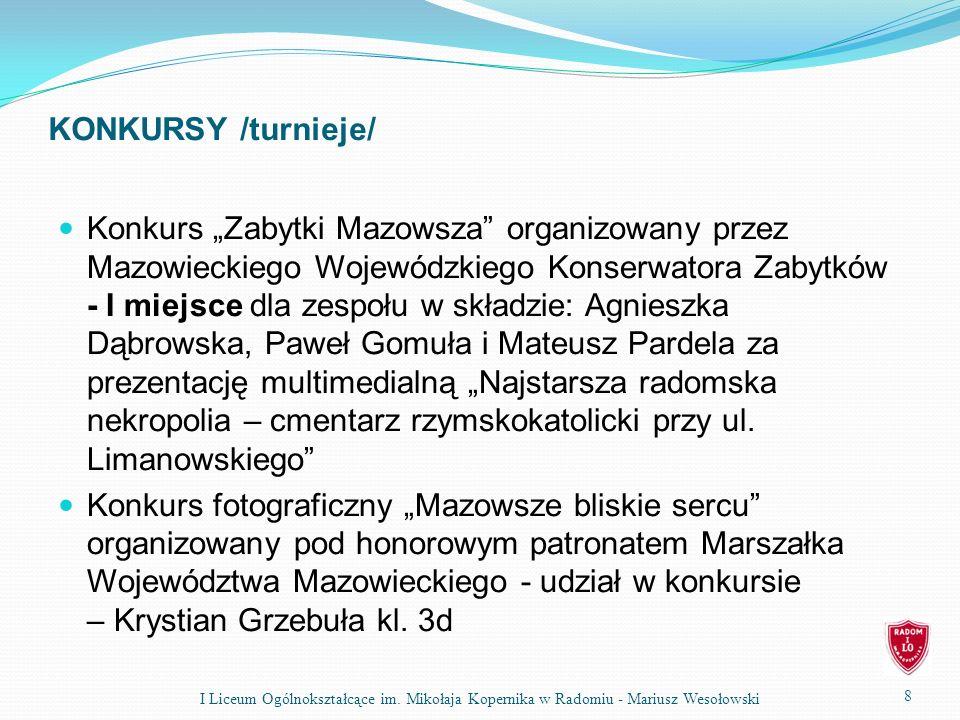 KONKURSY /turnieje/