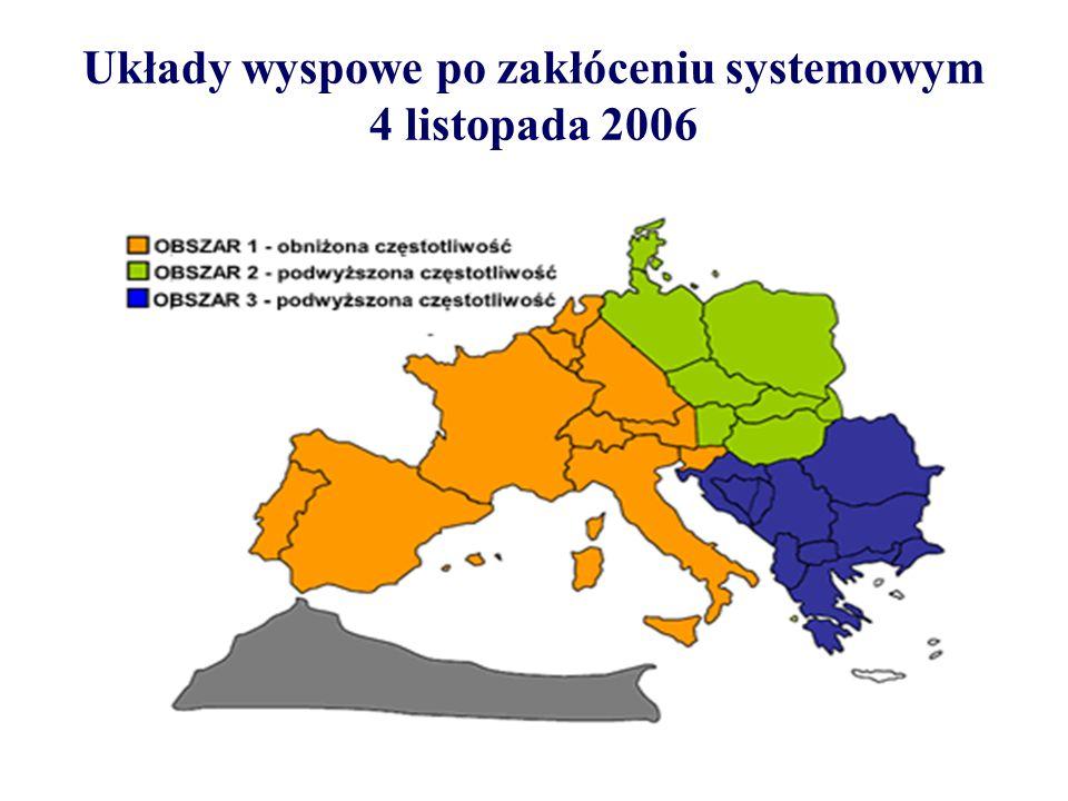 Układy wyspowe po zakłóceniu systemowym 4 listopada 2006