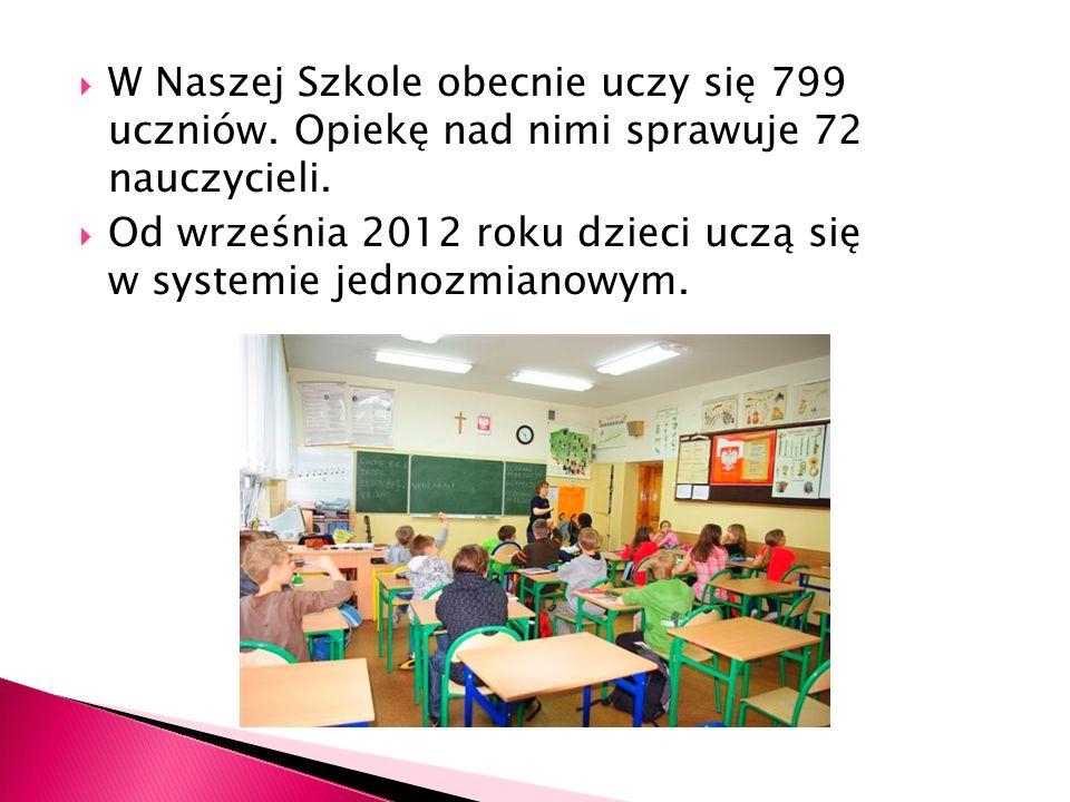 W Naszej Szkole obecnie uczy się 799 uczniów