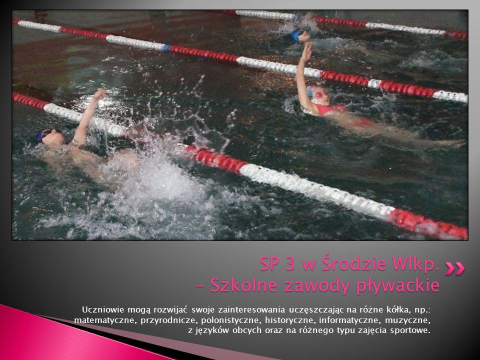 SP 3 w Środzie Wlkp. – Szkolne zawody pływackie