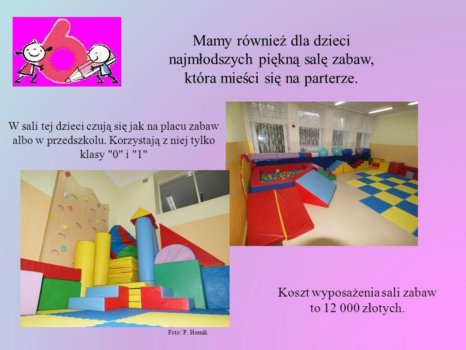 Koszt wyposażenia sali zabaw to 12 000 złotych.