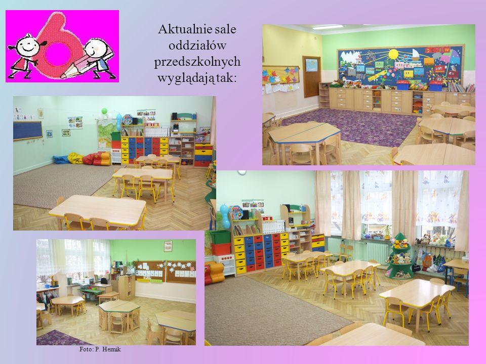 Aktualnie sale oddziałów przedszkolnych wyglądają tak: