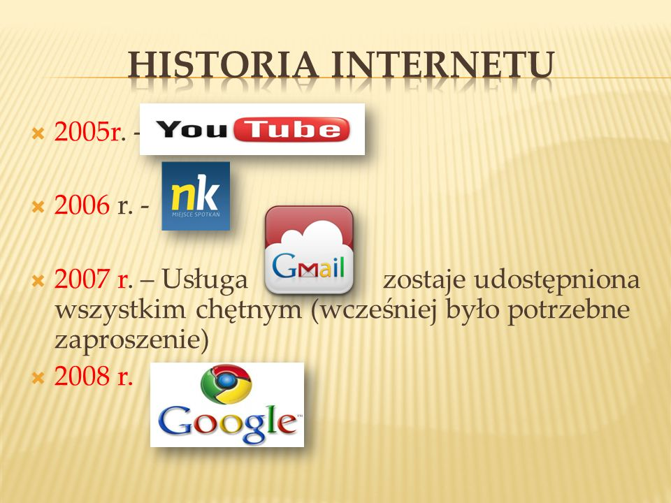HISTORIA INTERNETU 2005r. - 2006 r. -