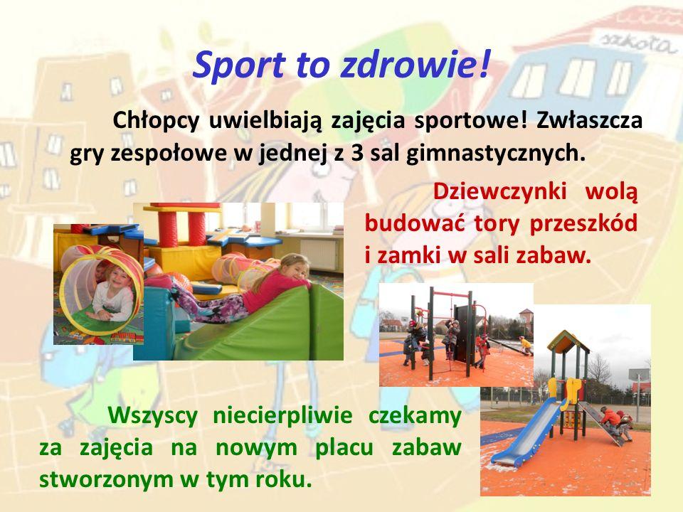 Sport to zdrowie! Chłopcy uwielbiają zajęcia sportowe! Zwłaszcza gry zespołowe w jednej z 3 sal gimnastycznych.