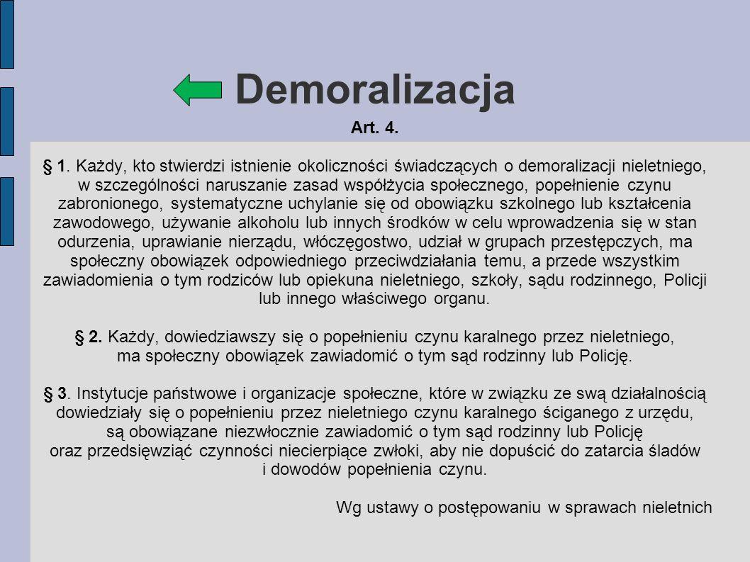 Demoralizacja Art. 4.