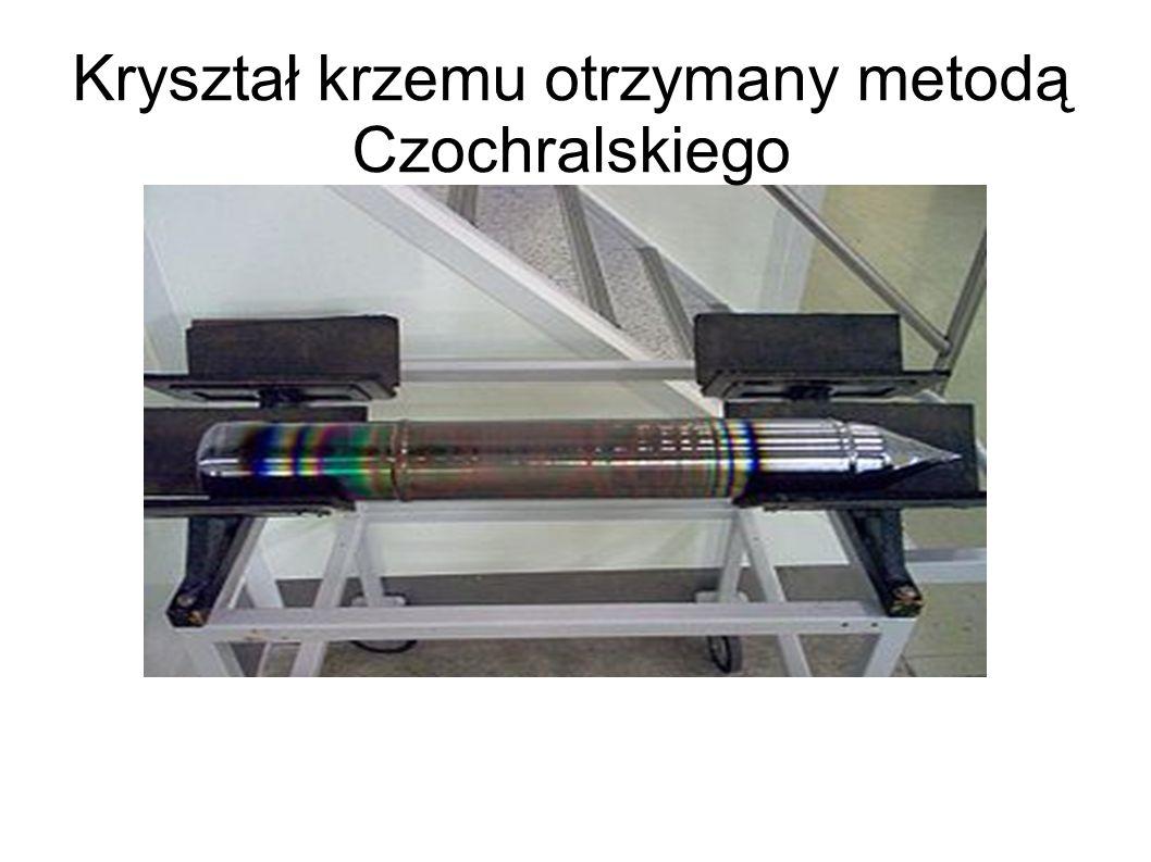 Kryształ krzemu otrzymany metodą Czochralskiego