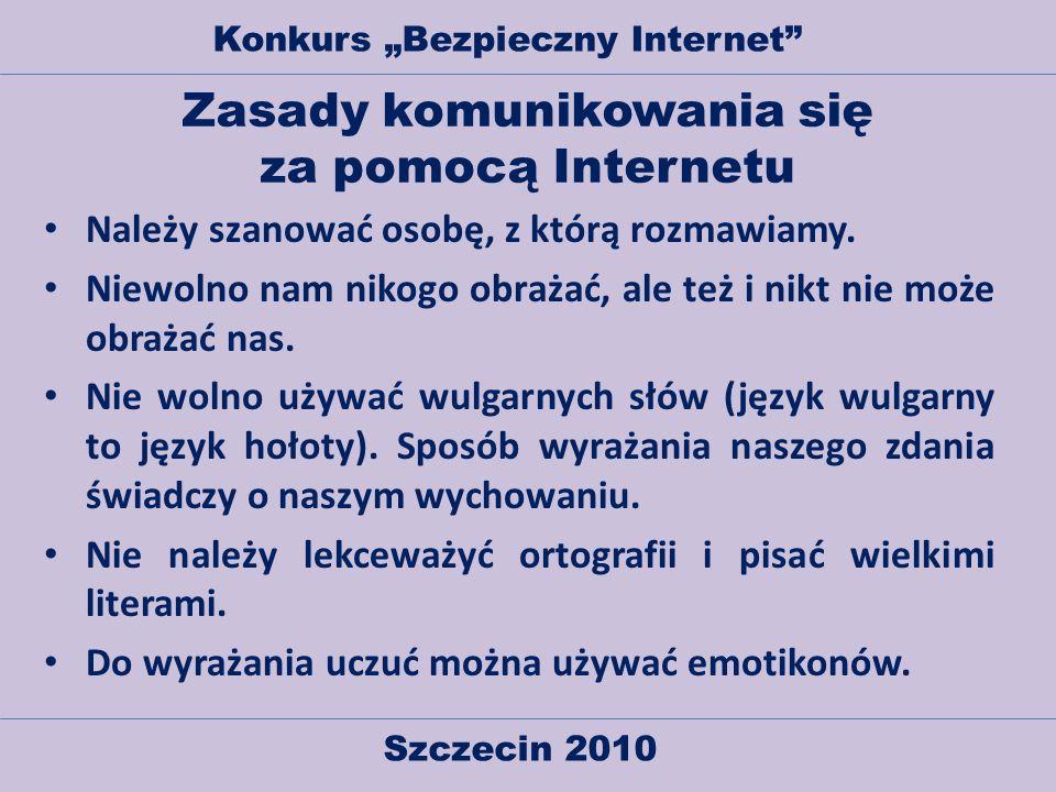 Zasady komunikowania się za pomocą Internetu