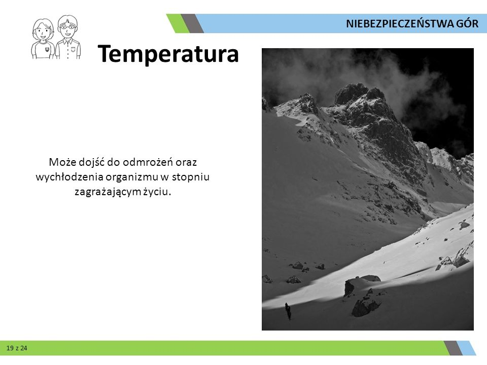 Temperatura NIEBEZPIECZEŃSTWA GÓR