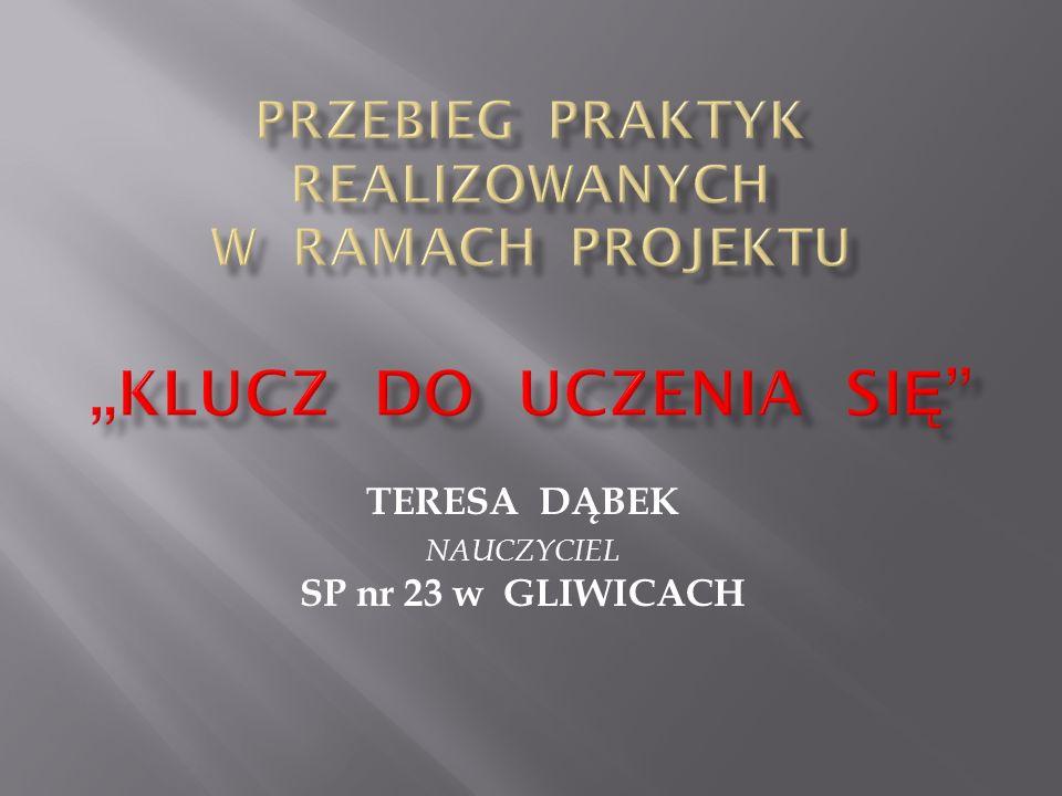 TERESA DĄBEK NAUCZYCIEL SP nr 23 w GLIWICACH