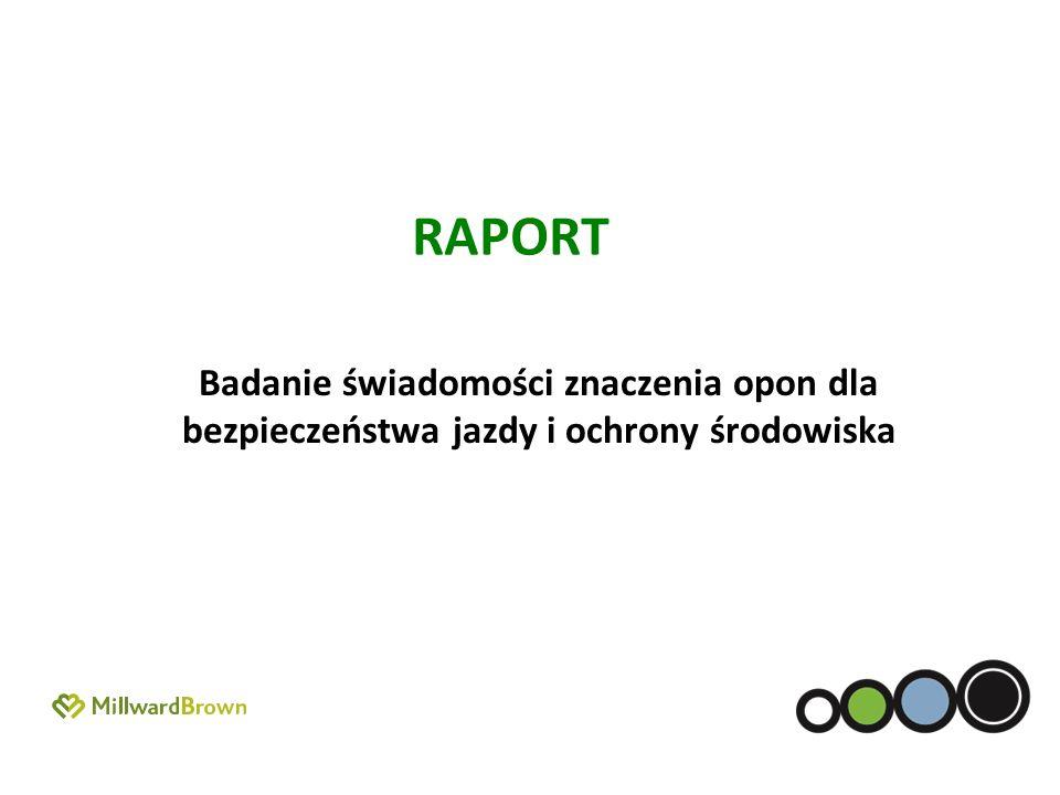 RAPORT Badanie świadomości znaczenia opon dla bezpieczeństwa jazdy i ochrony środowiska.