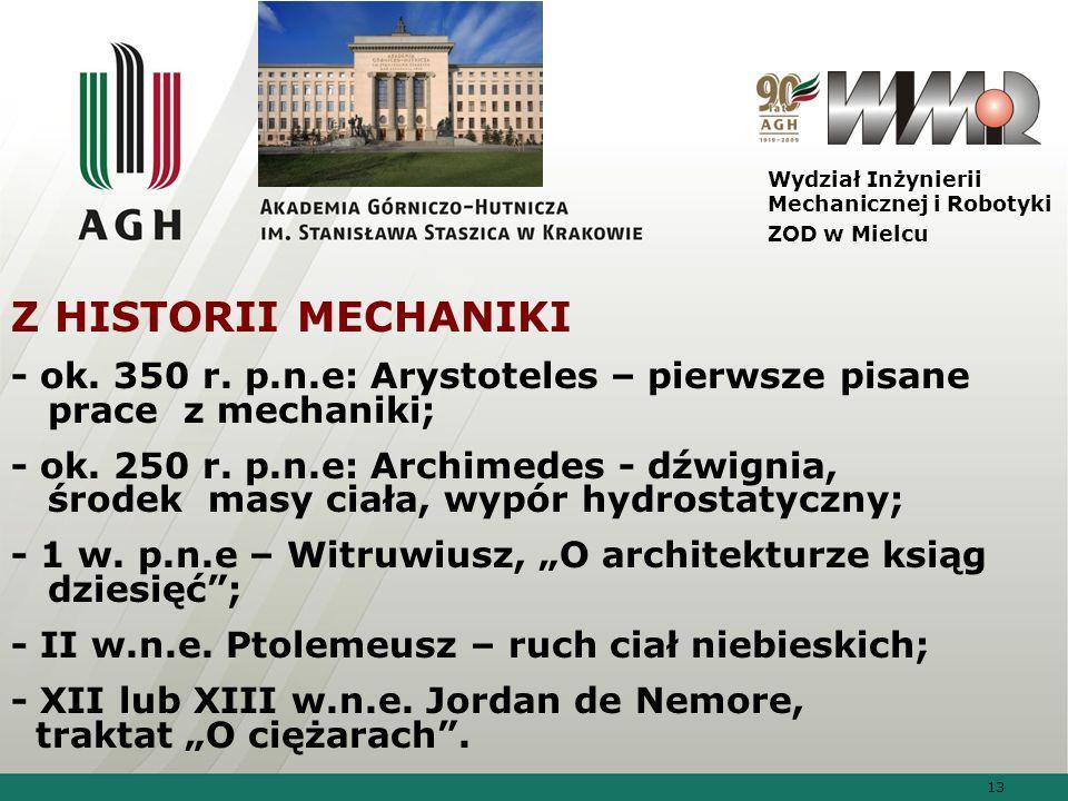 Wydział Inżynierii Mechanicznej i Robotyki