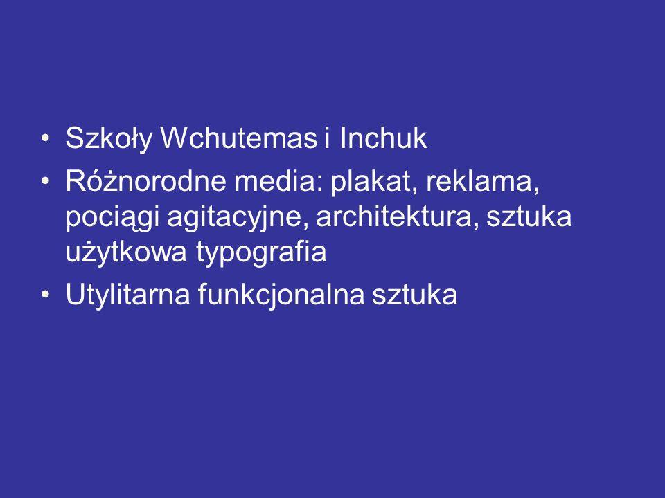 Szkoły Wchutemas i Inchuk