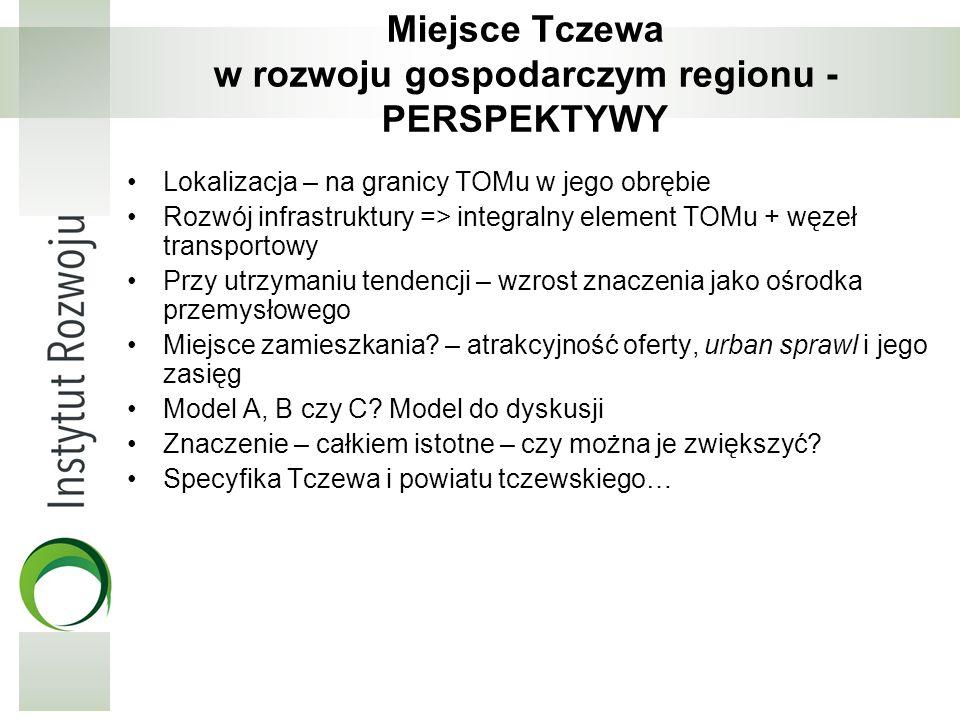 Miejsce Tczewa w rozwoju gospodarczym regionu - PERSPEKTYWY